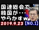 【海外の反応】韓国文在寅政権が国連総会でやらかす気満々…「自主国防新バージョン」に東京が?