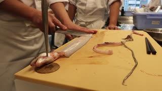 【一流】寿司職人によるアナゴの捌き 手順 1匹2分