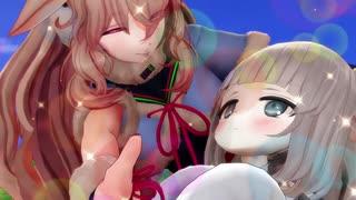 【アイドル部MMD】めめめとメリミルが仲良く戦闘訓練
