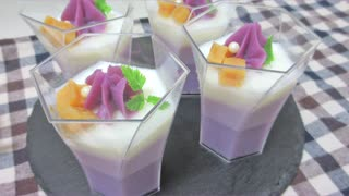紫芋スイーツ3種 作ってみた【ガレット・タルト・ミルクプリン】