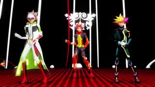 【遊戯王VRAINSMMD】PlaymakerとリボルバーとSoulburnerでSCREAM