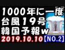 【海外の反応】台風19号が1000年に一度の最強クラス!千葉県で7000軒が原因不明の停電?これを見た韓国が…