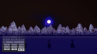 【MMD】月夜の晩、空気遠近越しにウサギさんの「SCREAM」を聴く。