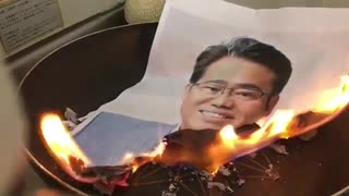 【 表現の自由 ・ 国賊に天誅 】 大村秀章 ・ 愛知県知事を燃やしてみた! 【 あいちトリエンナーレ・表現の不自由展 】