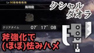 【MHWI】クシャルダオラ (ほぼ)怯みハメ  7′17″08【スラッシュアックス】