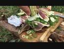 戻りカツオの藁焼きの野外料理 No.10