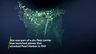 帝国海軍航空母艦「加賀」ミッドウエー環礁5400mの海底で見つかる