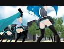 【MMD】(紳士向け) ミク4人が腰振りダンス(その壱)リメイク2019 [1080P60fps]