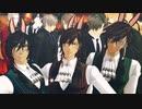 【MMD刀剣乱舞】ANIMAる【長船太刀3/長谷部3+カニ/大倶利伽羅3(仮装)/ねん】