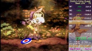 【RTA】 スーパードンキーコング2 Beat Link 40:49 【WR】
