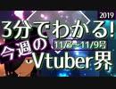【11/3~11/9】3分でわかる!今週のVTuber界【佐藤ホームズの調査レポート】