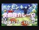 【ポケモン剣盾】冒険に役立つ おいしいカレーの簡単な作り方【ポケモンキャンプ】