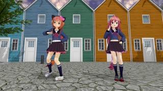 【MMD】卯月、猫村いろはでおどりゃんせ