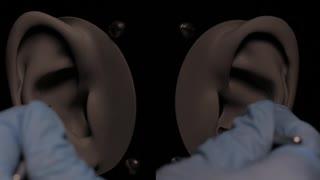ASMR ゴム手袋をつけて耳かき 音フェチ
