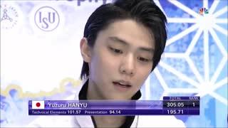 【NBC実況】羽生結弦 2019 NHK杯 FS