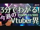 【11/24~11/30】3分でわかる!今週のVTuber界【佐藤ホームズの調査レポート】
