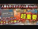 【ポケモンUSUM】人事を尽くすアグノム厨-day55-【ダメージ計算の重要性と最善手】