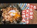 【5分で丼もの】メイン食材卵のみ!【超簡単スピードごはん】