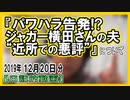 """『パワハラ告発!?ジャガー横田さんの夫""""近所での悪評""""』についてetc【日記的動画(2019年12月20日分)】[ 264/365 ]"""