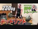 【230kg】田中トレーナーのデッドリフトに密着!<前半>【ビーレジェンド チャンネル】