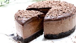 材料4つで生チョコオレオチーズケーキ Oreo ganache cheesecake with 4 ingredients
