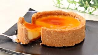 材料4つ?で簡単プリンタルト tart pudding