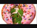 巨乳 水着 美少女 恐竜とドーナッツ食べる