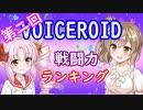 【第二回】VOICEROID戦闘力ランキング【VOICEROID紹介】