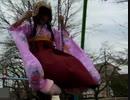 【女装】初詣に行った帰りに振袖袴姿で公園で遊んだ~ブランコ編~