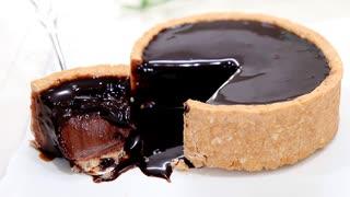 お家で濃厚チョコプリンタルト Chocolate tart pudding
