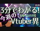 【1/5~1/11】3分でわかる!今週のVTuber界【佐藤ホームズの調査レポート】