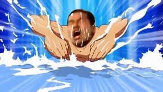 溺れてるひでを助ける野獣先輩