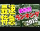 【鉄道豆知識】最速特急列車 愛称別ランキング2019 #22
