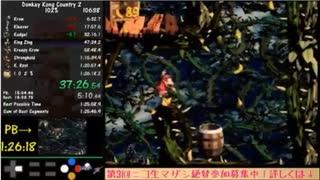 【TS録画】スーパードンキーコング2 102%RTA 1:26:15