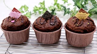 混ぜて焼いたらバレンタインチョコレートマフィン Chocolate muffins 【バレンタインレシピ】