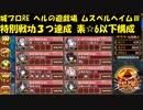 城プロRE ヘルの遊戯場 ムスペルヘイム -Ⅲ- 特別戦功3つ達成 素☆6以下構成