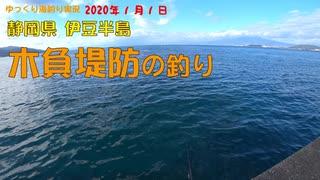 2020年 1月 木負堤防の釣り