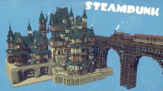 【Minecraft】スチームパンクな街を作って