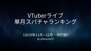 【VTuber改訂版】単月スパチャ収益ランキ