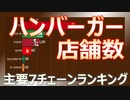 【ハンバーガー】15年間のハンバーガーチェーン店舗数の推移(2005~2019) ~ランキング~