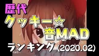 歴代クッキー☆音MADランキング(2020.02)