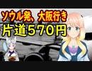 ソウル発大阪行きが片道570円。既得権を維持する為に運航を停止出来ないww【世界の〇〇にゅーす】