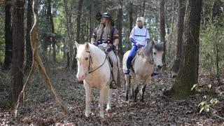 ジョジョの奇妙な冒険 コスプレで乗馬して