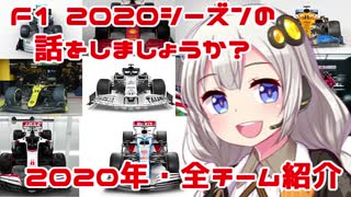 【紲星あかり】F1 2020シーズンの話をしましょうか?「開幕直前!2020年・全チーム紹介」