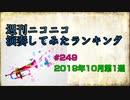 週刊ニコニコ演奏してみたランキング #249  2019年10月第1週
