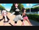 【MMD】ちびメドと手下が通学路でかいしんのいちげき!