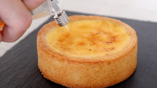材料4つで簡単クリームブリュレタルト How to make a cream brulet tart with 4 ingredients【ホワイトデー】