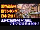 【海外の反応】 世界最高の国 ランキングで 日本は2位に!「アジアでは 日本だけ!」