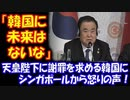 【海外の反応】 「韓国に 未来はないな」 天皇陛下に 謝罪を求める 韓国に シンガポールから 怒りの声!