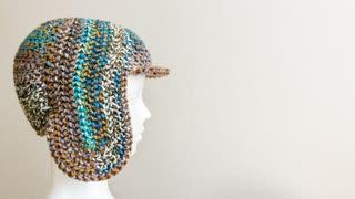 【ジグザグ編み】耳当てから編む帽子